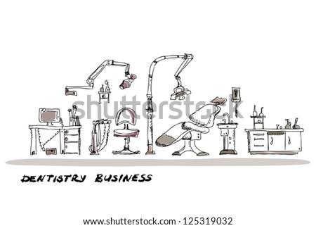 dentist room background - stock vector