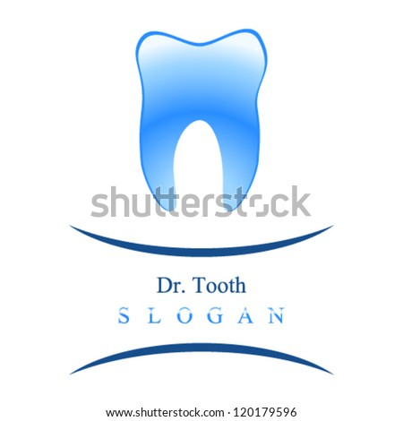 dentist sign with tooth - vector illustration - stock vector