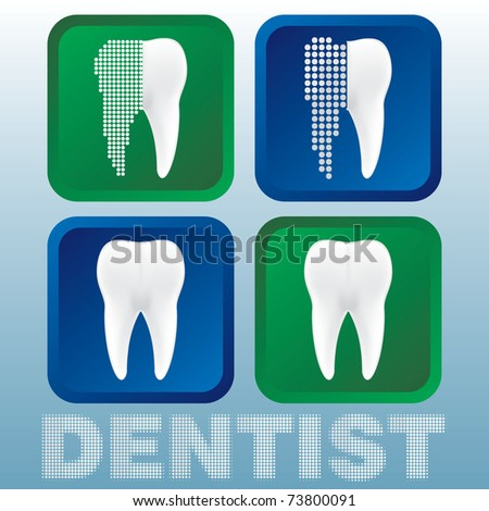 dentist tooth - stock vector