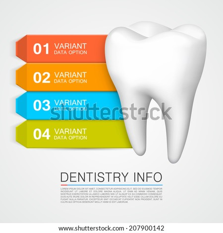 Dentistry info. Vector Illustration - stock vector
