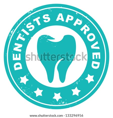 dentists approved - stock vector