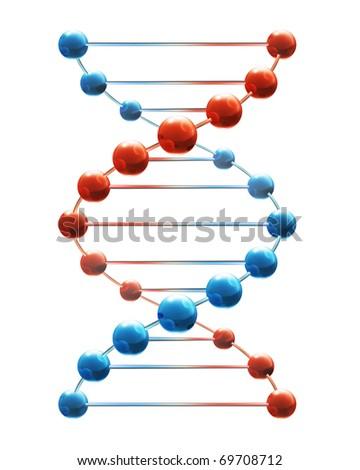 Deoxyribonucleic acid, eps10 - stock vector