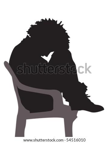 Depressed - stock vector