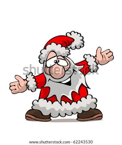 Der freundliche Weihnachtsmann - stock vector