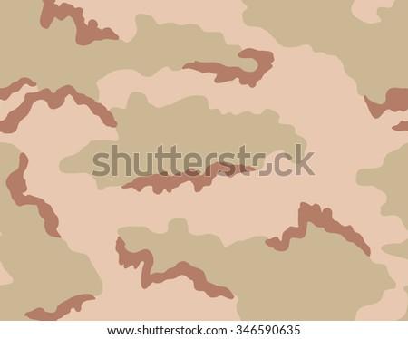 Desert Camouflage Seamless Pattern Tricolor Scheme Light Green Beige Brown