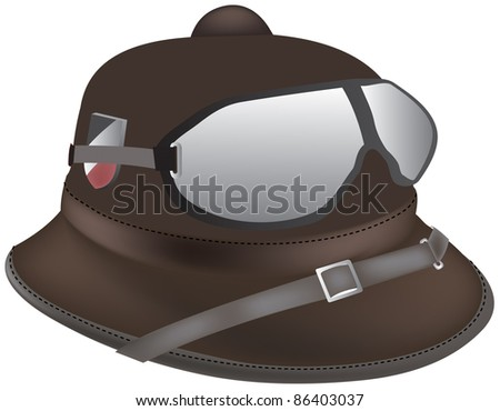 Desert military old cap - stock vector