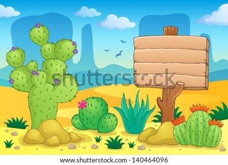Desert theme image 3 - eps10 vector illustration. - stock vector