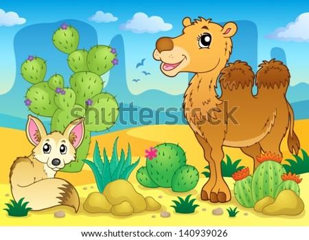 Desert theme image 4 - eps10 vector illustration. - stock vector