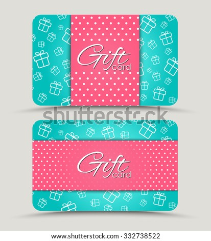Wedding Gift Card Text : ... text vector set of different love cards templates vanilla cards design