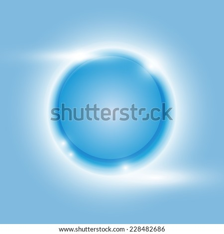 Design blue glow circle vector abstract background, stock vetor - stock vector