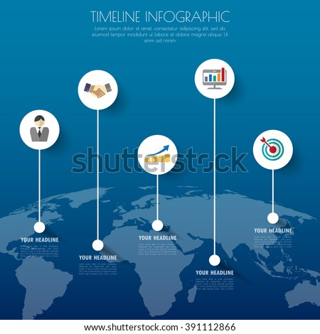 Design business concept timeline. Infograph template, 3d paper 5 steps infographic, vector banner can be used for workflow layout, diagram, number option. vector illustration. - stock vector