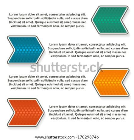 Design business presentation template. Vector illustration for infographics / number banners / charts and graphs or powerpoint background/ slideshow / graphs and tables or website layout. EPS 10 - stock vector