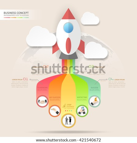 Design business startup concept infographics. Vector illustration - stock vector