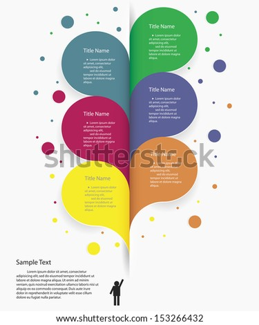 Design clean number banners template/graphic or website layout/timeline. Vector. - stock vector
