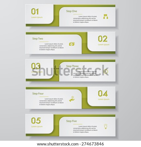 Design clean number banners template/graphic or website layout. Vector - stock vector