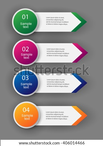 Design clean number banners template/graphic or website layout. Vector. Eps 10 - stock vector