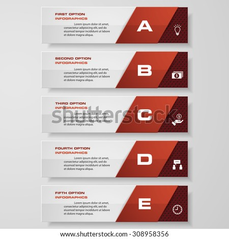Design clean number banners template/tags or website layout. Vector. - stock vector