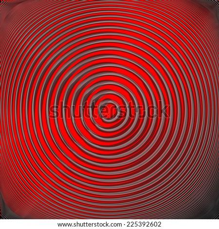 Design colorful circular movement background. Abstract stripy convex backdrop. Vector-art illustration. EPS10 - stock vector