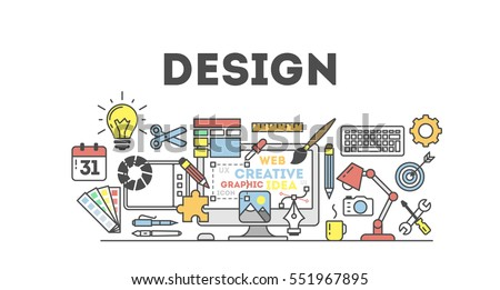 Design Concept Illustration On White Idea Stock Vector 551967895 ...