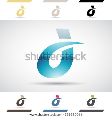 Design Concept of Colorful Stock Logos Icons and Shapes of Letter D, Vector Illustration  - stock vector