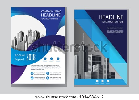 Design Cover Book Blue Color Blue Stock Vector HD (Royalty Free ...