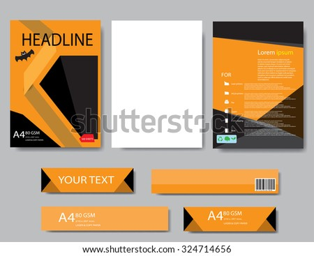 Design cover paper halloween report. Abstract geometric vector template. Design template  halloween