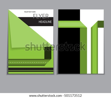Blank brochure holder template designers stock vector for Cardboard brochure holder template