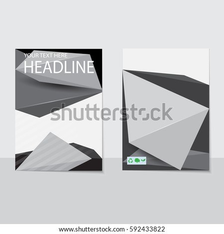 Design Cover Paper Report Abstract Geometric Vector – Report Paper Template