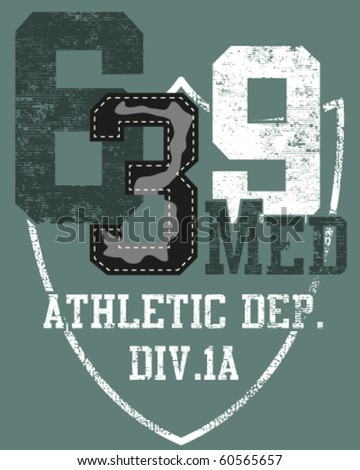 design created for all types of image especially for sports shirt designs - stock vector