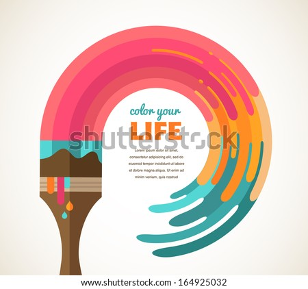 Design, creative, idea and color concept - stock vector