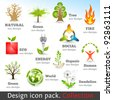 Design 3d color icon set. Design elements. Vector illustration. - stock vector
