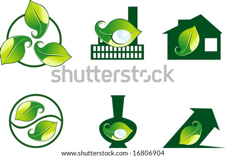 Design ecology icons - stock vector