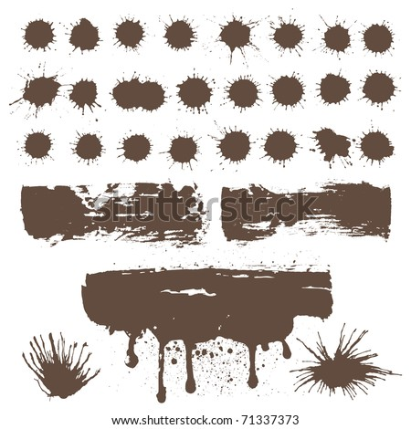 design element for grunge ink - stock vector