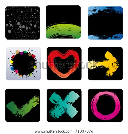 design element for grunge ink - stock vector
