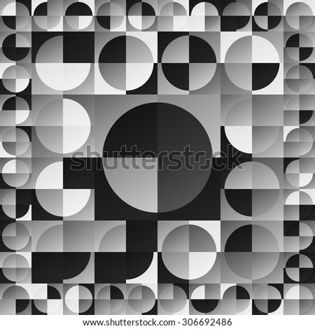 design element. gray  circles seamless pattern - stock vector