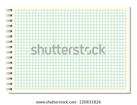 design element.  notebook  vector graph paper  background  - stock vector