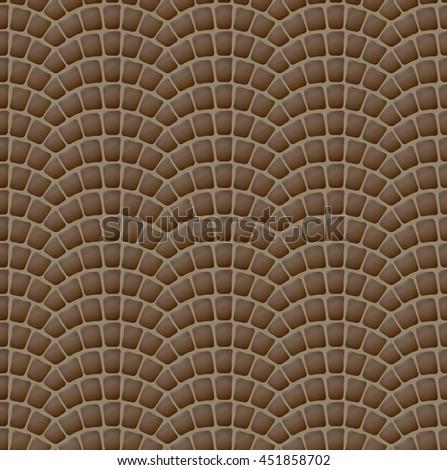 design element. vintage paving stones seamless texture - stock vector