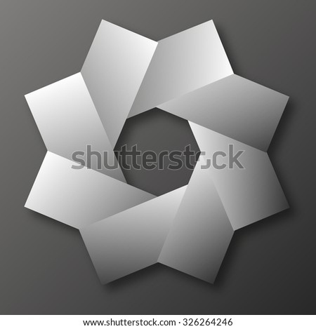 design element with rectangles - stock vector