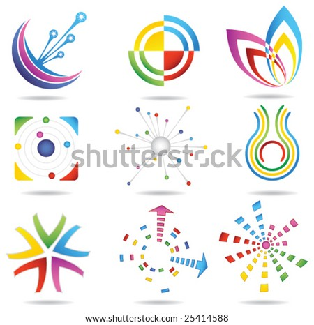 Design elements 1 - stock vector