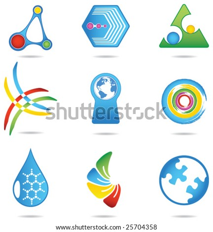 Design elements 2 - stock vector