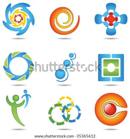 Design elements 5 - stock vector