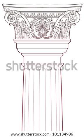 Design Elements - Ancient Column - stock vector