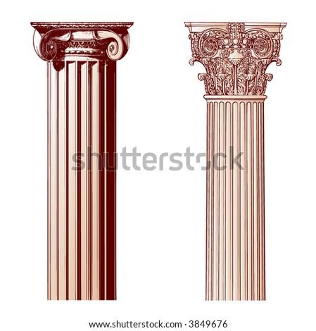 Design Elements - Ancient Columns - stock vector