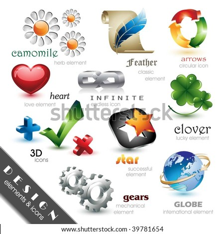 Design Elements and Icons - stock vector