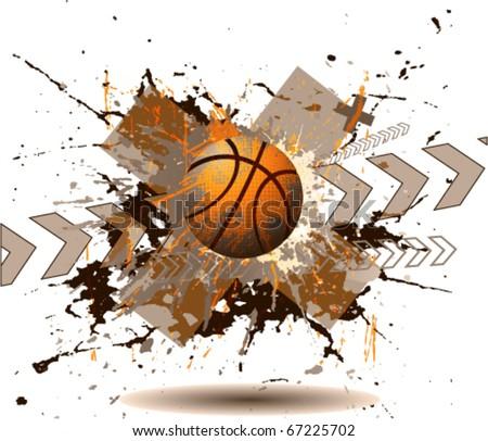 design elements basketball - stock vector