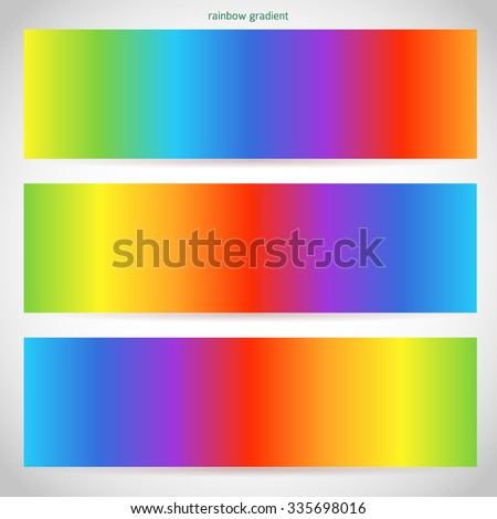 Design elements business presentation template. Vector illustration web banners horizontal, charts and graphs and tables on rainbow gradient background. EPS 10  - stock vector
