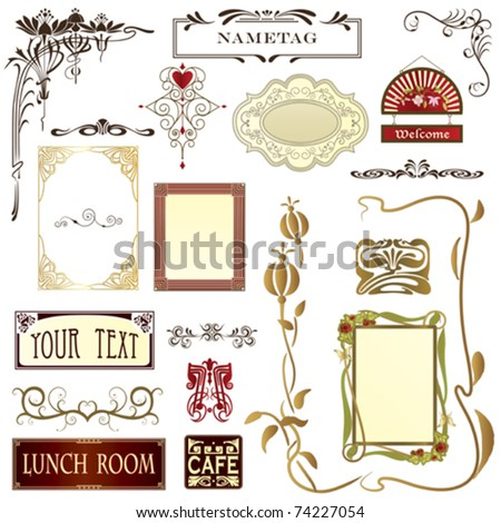 Design elements for advertising,stationary & web pages with copy space - stock vector