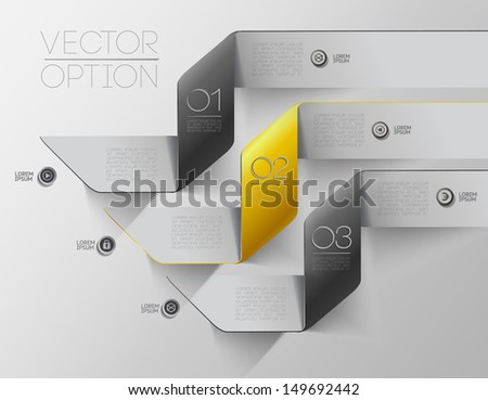 Design elements  for options/ vector sample template - stock vector