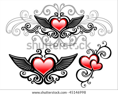 Design elements for valentines day - stock vector