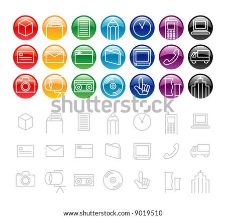 design elements / icon 3 - stock vector